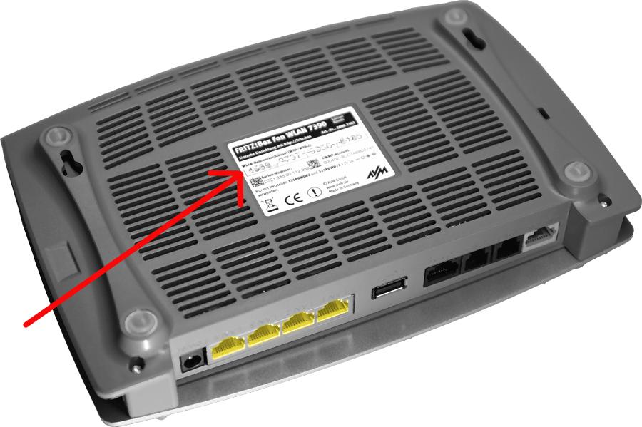 Name des WLAN-Funknetzes (SSID) bei vorkonfigurierter Fritz!Box